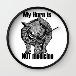 Save the rhino shirt Wall Clock