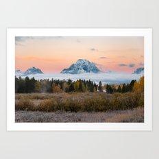 Autumn Sunrise in the Tetons Art Print