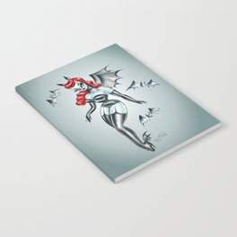 Vampire Bat Pinup Girl Notebook