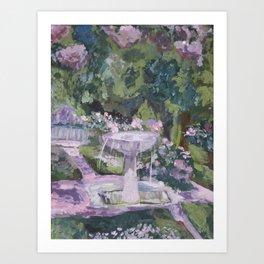 Spring garden, impressionist painting, Sorolla interpretation Art Print