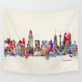 San Antonio Texas skyline Wall Tapestry