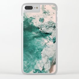 Paint Gone Bad on Canvas Clear iPhone Case