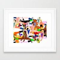 yoga Framed Art Prints featuring Yoga by Jonny Negron
