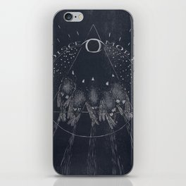 Disce More - Learn Death - Sparrows Woodcut iPhone Skin