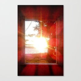Glorius Rays from the Setting Sun Canvas Print