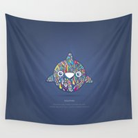 dolphin Wall Tapestries featuring Dolphin by Narek Gyulumyan