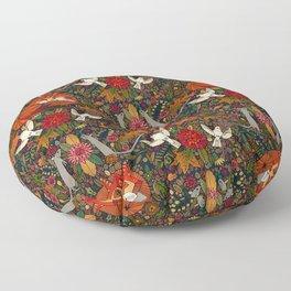 fox garden Floor Pillow