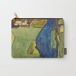 "Egon Schiele ""Stadt am blauen Fluss (Town on the blue river)"" Carry-All Pouch"