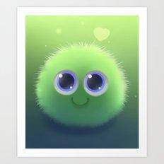 Fluffy Chu Art Print