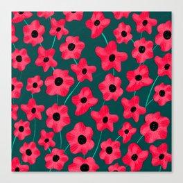 Poppies' field Canvas Print