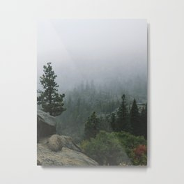 Foggy Emerald Bay Metal Print
