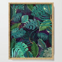 Green Tropical Serving Tray