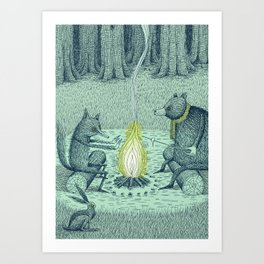 'Campfire' (Colour) Art Print