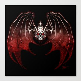 Thee Vampire Guild Bat Icon Canvas Print