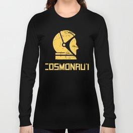 Cosmonaut - Retro Soviet Union Space Design Long Sleeve T-shirt