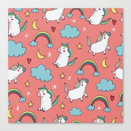 Happy unicorns Canvas Print