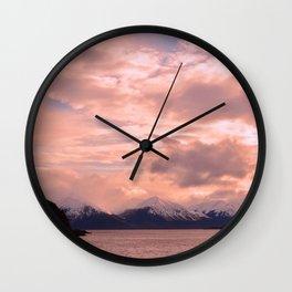 Rose Quartz Over Hope Valley Wall Clock
