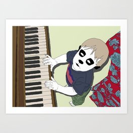 The Pet Piano Art Print