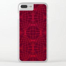 ELEGANT DARK RED GRAPHIC DESIGN Clear iPhone Case