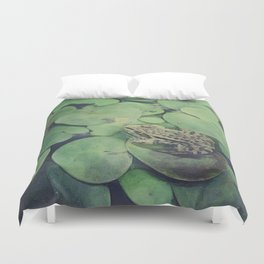 all green Duvet Cover