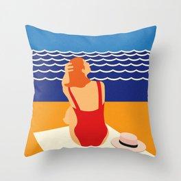 Still Summer Throw Pillow