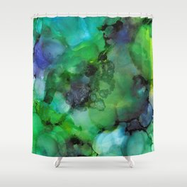 Alcohol Ink 'Galapagos' Shower Curtain