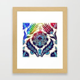 An Ottoman Iznik style floral design pottery polychrome, by Adam Asar, No 36 h Framed Art Print