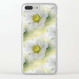 flowers -10- seamless pattern Clear iPhone Case