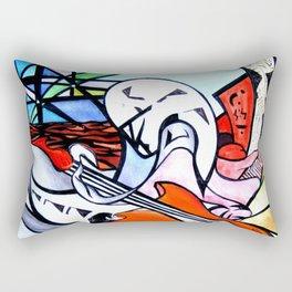 Musical madness (original) Rectangular Pillow