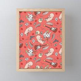 Grunge pattern Framed Mini Art Print