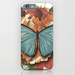 Blue Moth iPhone Case