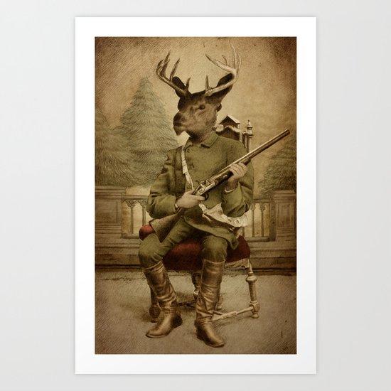 The Deer Hunter  Art Print