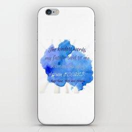 DROWN OCEANS   RUPI KAUR iPhone Skin