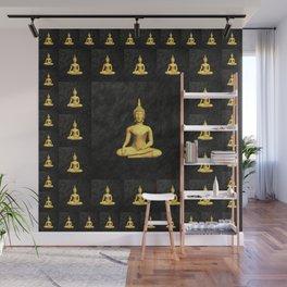 Golden Buddh Wall Mural