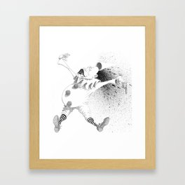 Clown Suicide Framed Art Print