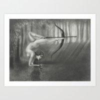 sagittarius Art Prints featuring Sagittarius by Jessica Ward