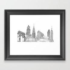 New York City by the Downtown Doodler Framed Art Print
