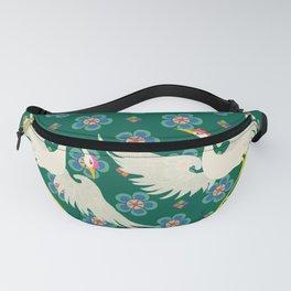 Colourful Oriental Cranes Decoration Patterns Fanny Pack