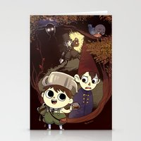 over the garden wall Stationery Cards featuring over the garden wall by Tae V