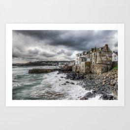 St. Ives. Crashing Waves. Art Print