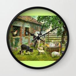 Barnyard Chatter Wall Clock
