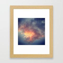 Fiery cloud Framed Art Print