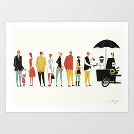 Coffee Bike, Copenhagen Art Print