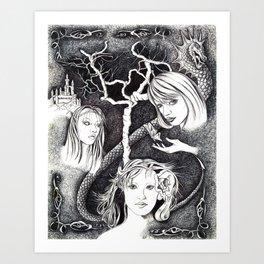 Thee Sisters Art Print