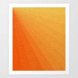 Shades of Sun - Line Gradient Pattern between Light Orange and Pale Orange Art Print
