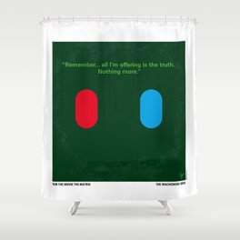 No093 My The Matrix minimal movie poster Shower Curtain
