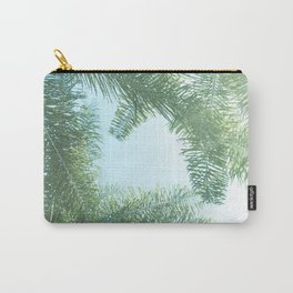 Nature photography tropical vibe vintage palm leaf II Carry-All Pouch