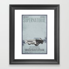 Supernatural: Chevy Impala Movie Poster Framed Art Print