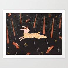 Jackalope Elope Art Print