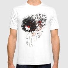 Dream Figment II MEDIUM White Mens Fitted Tee